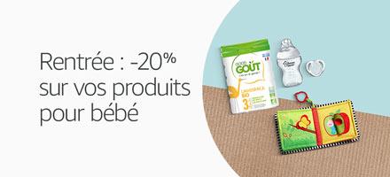 C'est la rentrée : -20% sur vos produits bébé et puériculture