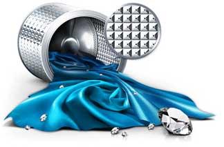 655e64b409f80e Le tambour d un lave-linge est perforé par des centaines de petits trous  utilisés pour évacuer l eau après le lavage. La forme du tambour Crystal  Care est ...