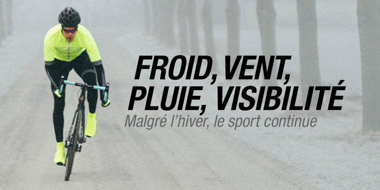 Froid, pluie, vent, visibilité : malgré l'hiver le sport continue