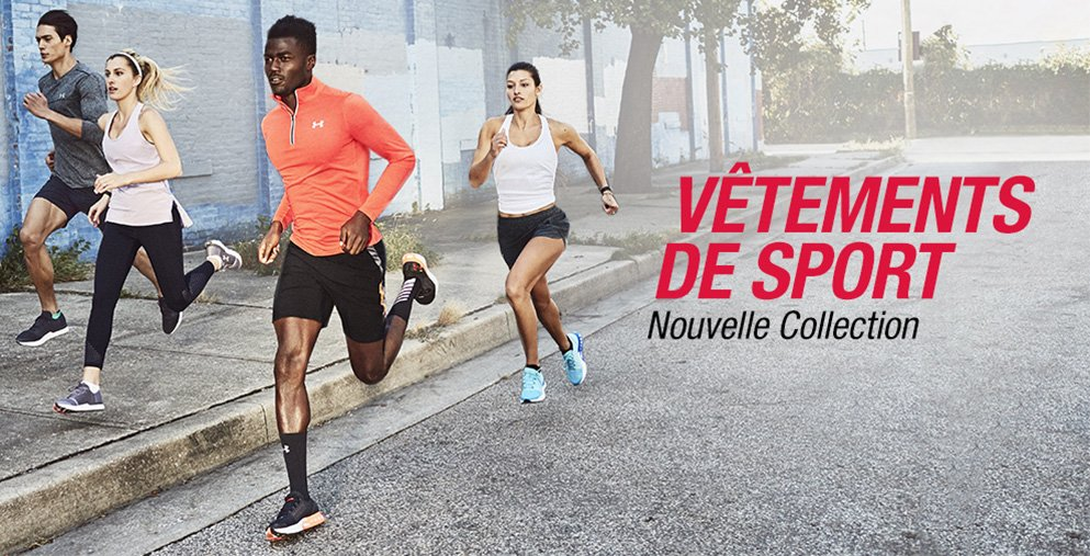Nouvelle collection Vêtements de sports