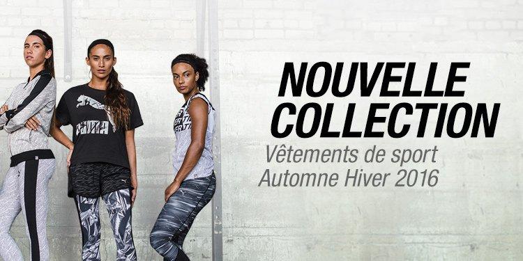 Nouvelle collection vêtements de sport AUtomne-hiver 2016