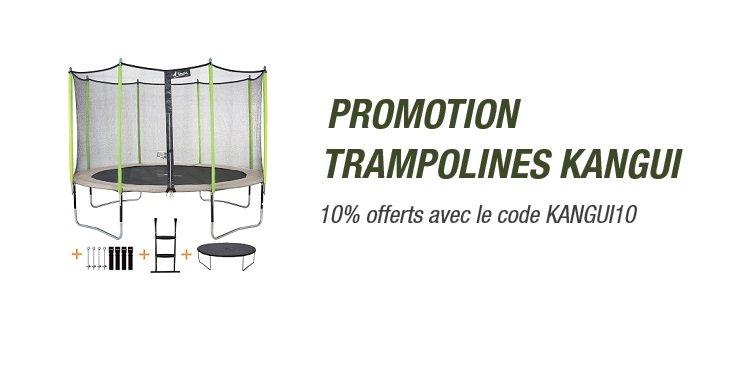 Promo Kangui : -10% sur les trampolines avec le code KANGUI10