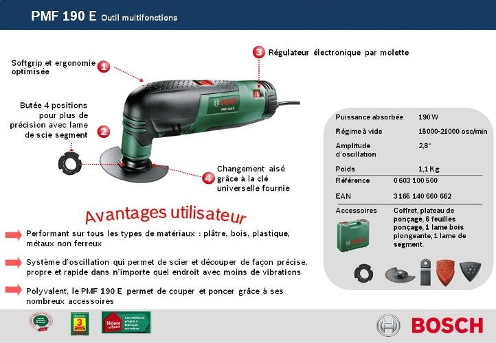 the best attitude united states shoes for cheap Bosch 0603100500 - Kit de Outil multifonction