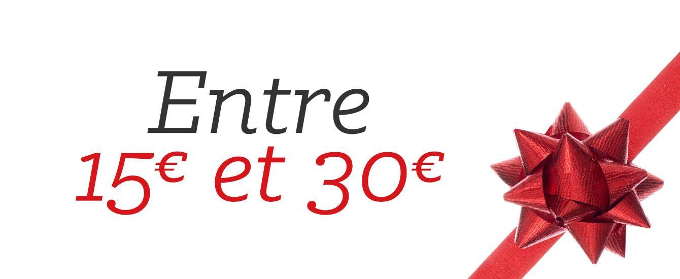 Entre 15 et 30 euros