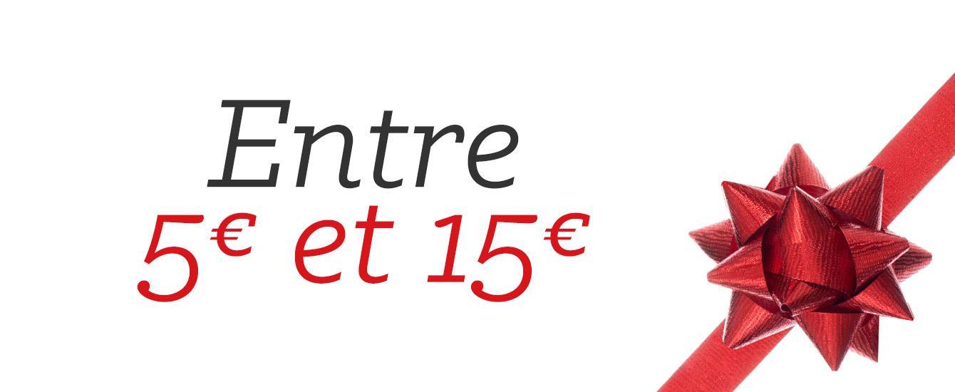 Entre 5 et 15 euros