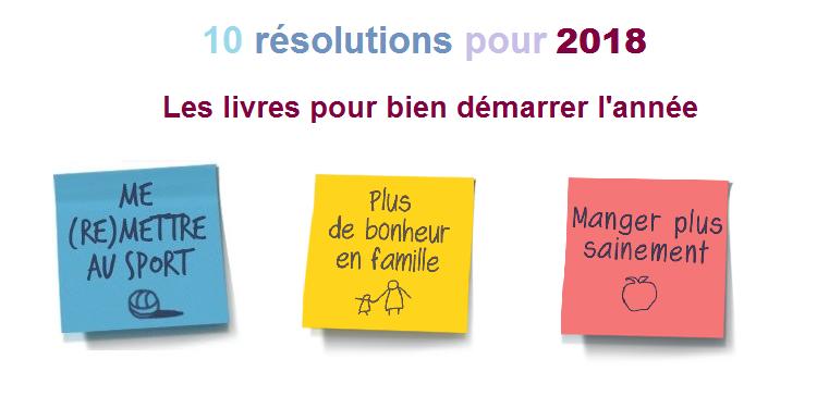 10 résolutions pour 2018