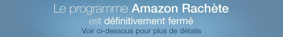 Amazon Rachète fermera le 31 août 2015