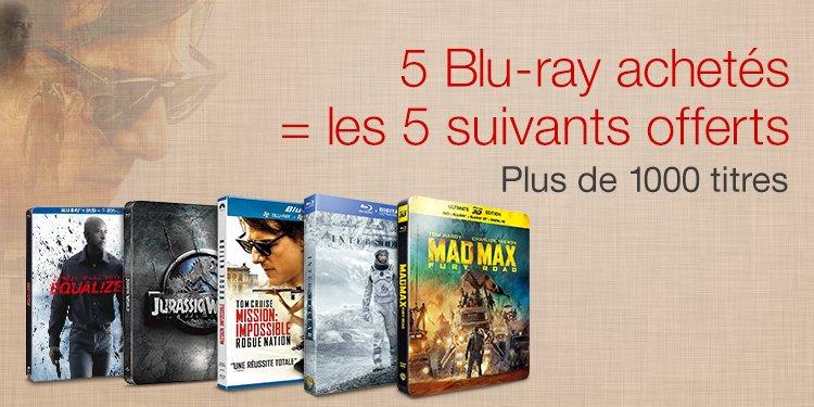 5 Blu-ray achetés = les 5 suivants offerts