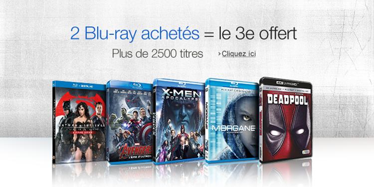 2 Blu-ray achetés = le 3e offert