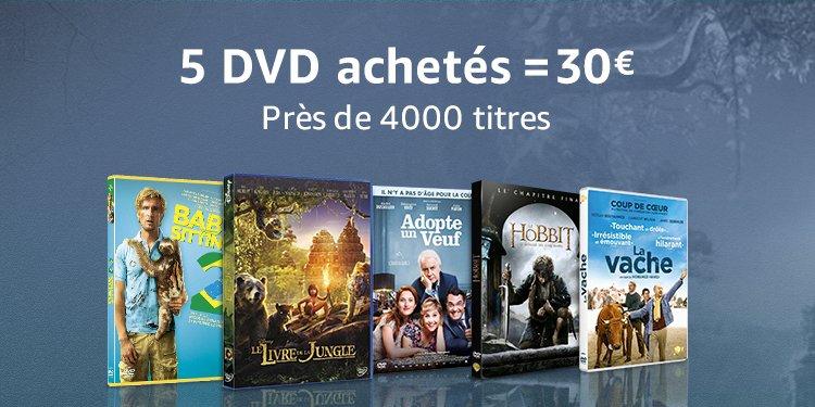 5 DVD = 30€