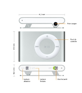 Apple Shuffle numCArique automatique damplitude dp BNLXFA