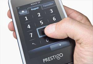 The 7.1cm touch sensitive screen only shows the keys you need, allowing you to navigate quickly and intuitively