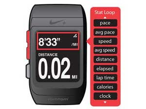 Want to know how you are doing in every way? Set the watch to automatically loop through each of the upper metrics (distance, time, bpm, etc).