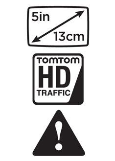 Écran Large XXL 5 pouces (13 cm), TomTom HD Traffic et TomTom Zones de danger en temps réel.