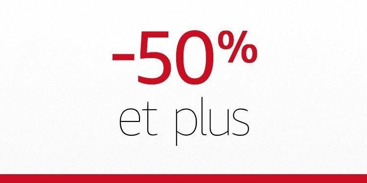 -50% et plus