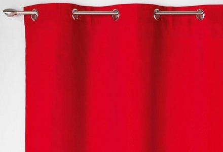 rideaux rouges