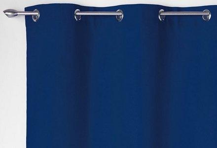 rideaux bleus