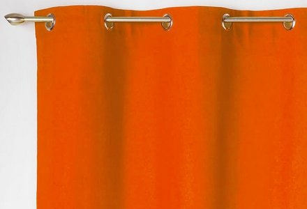 rideaux orange