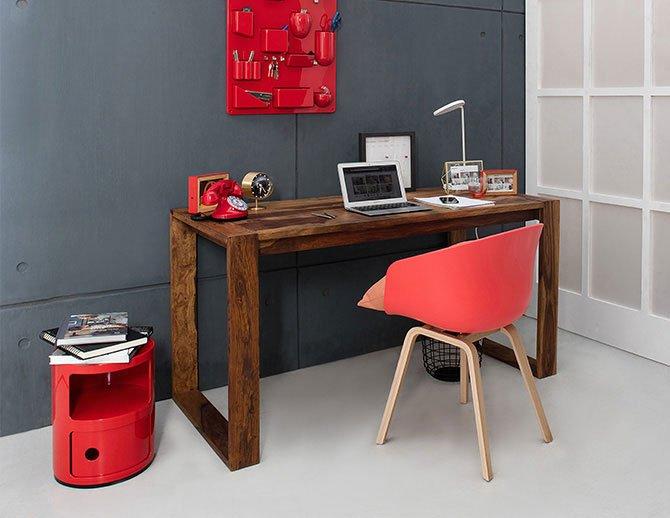 Bureau design en rouge