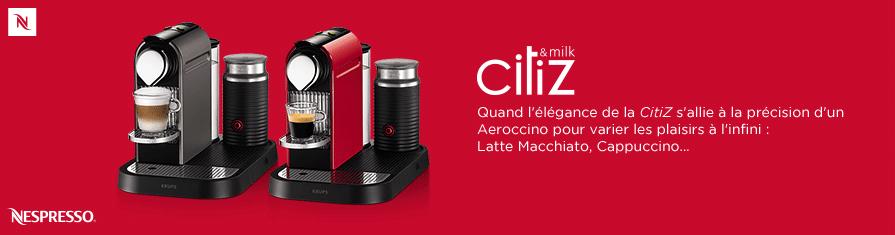 Quand l'élégance de la Citiz s'allie à la précision d'un Aeroccino pour varier les plaisirs à l'infini : Latte Macchiato, Cappuccino...