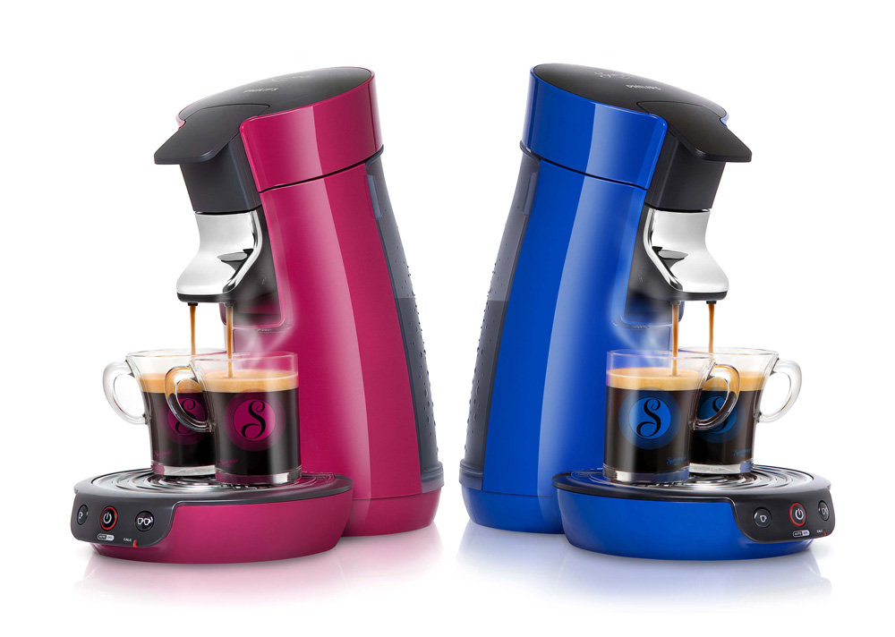 philips hd7825 75 senseo viva cafeti re dosettes bleu. Black Bedroom Furniture Sets. Home Design Ideas