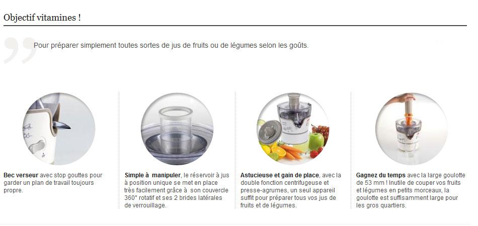 seb zn355101 centrifugeuse elea duo blanc cuisine maison. Black Bedroom Furniture Sets. Home Design Ideas