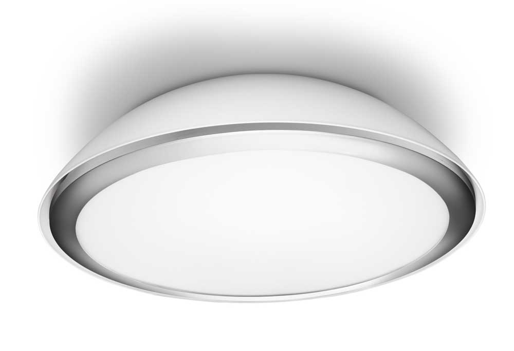 Philips plafonnier led cool eclairage salle de bain blanc for Plafonnier design salle de bain