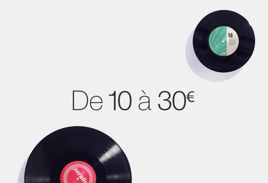 Vinyles de 10 à 30 euros
