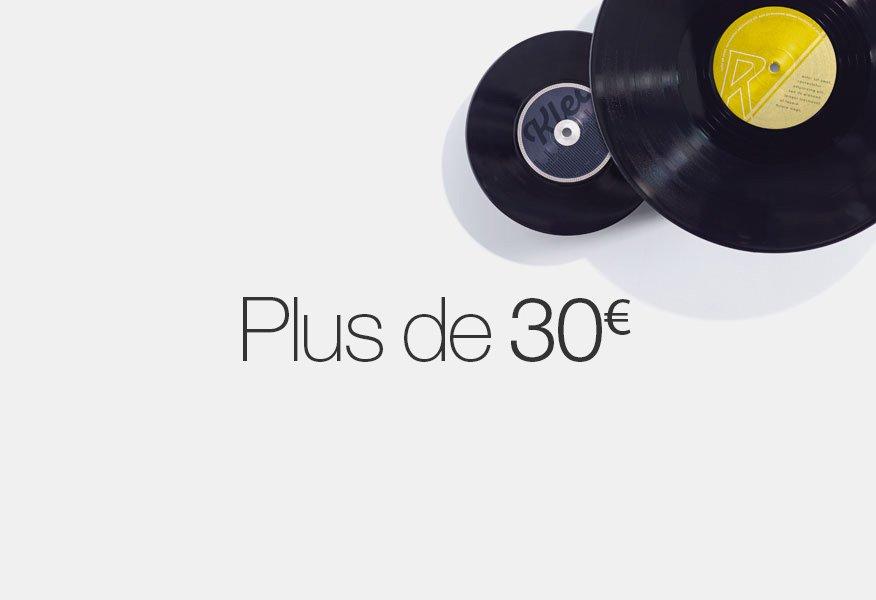 Vinyles à plus de 30 euros