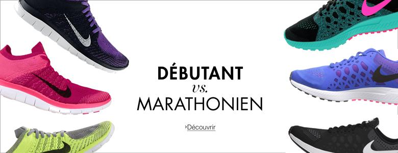 Nike débutant vs marathonien