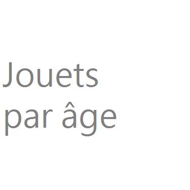 Jouets par âge