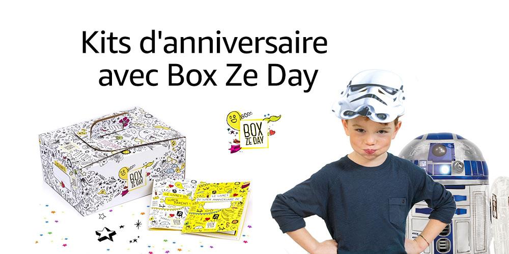 Kit d'anniversaire avec Box Ze Day