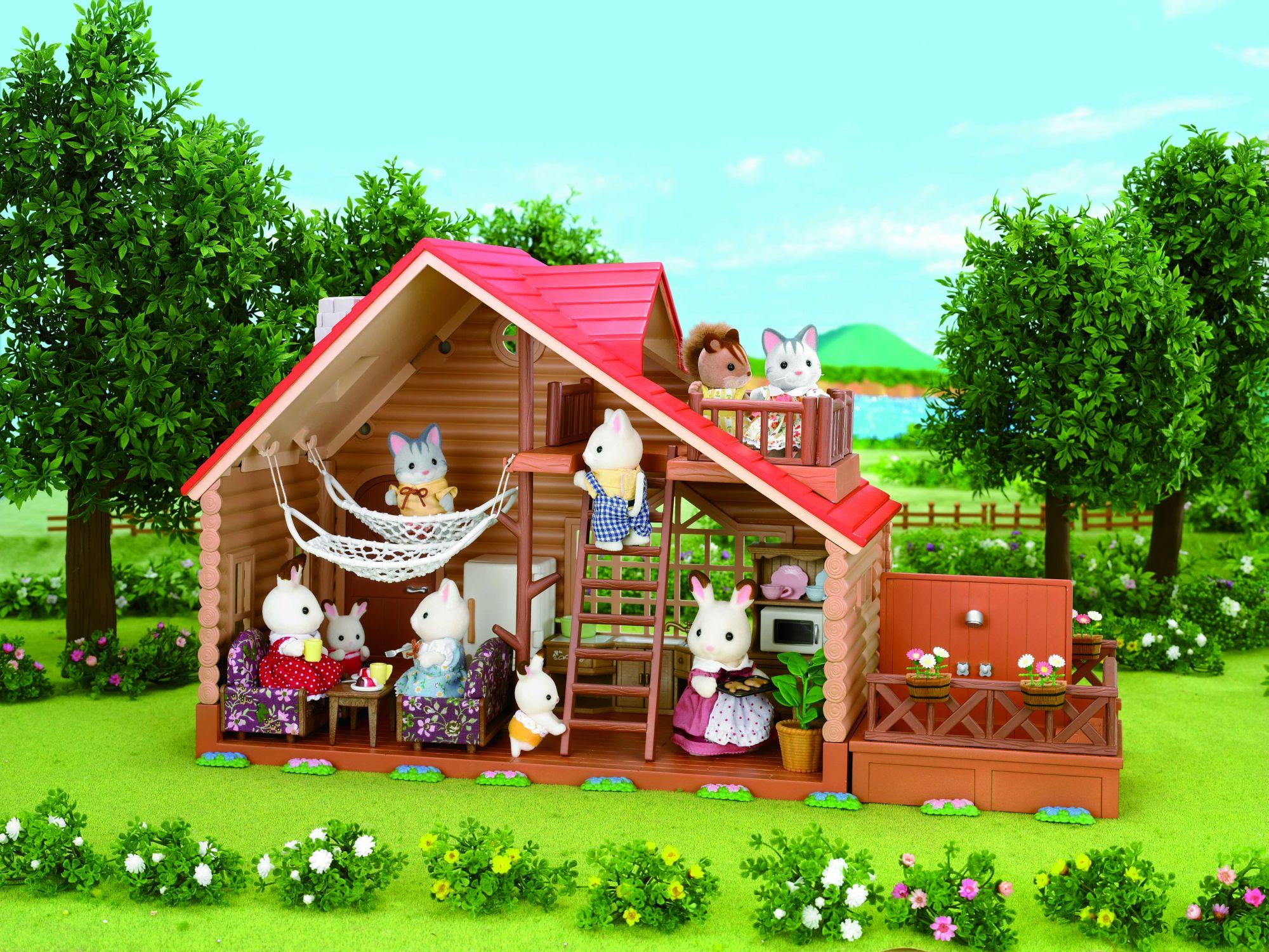 sylvanian families 2881 chalet mini poup e jeux et jouets. Black Bedroom Furniture Sets. Home Design Ideas