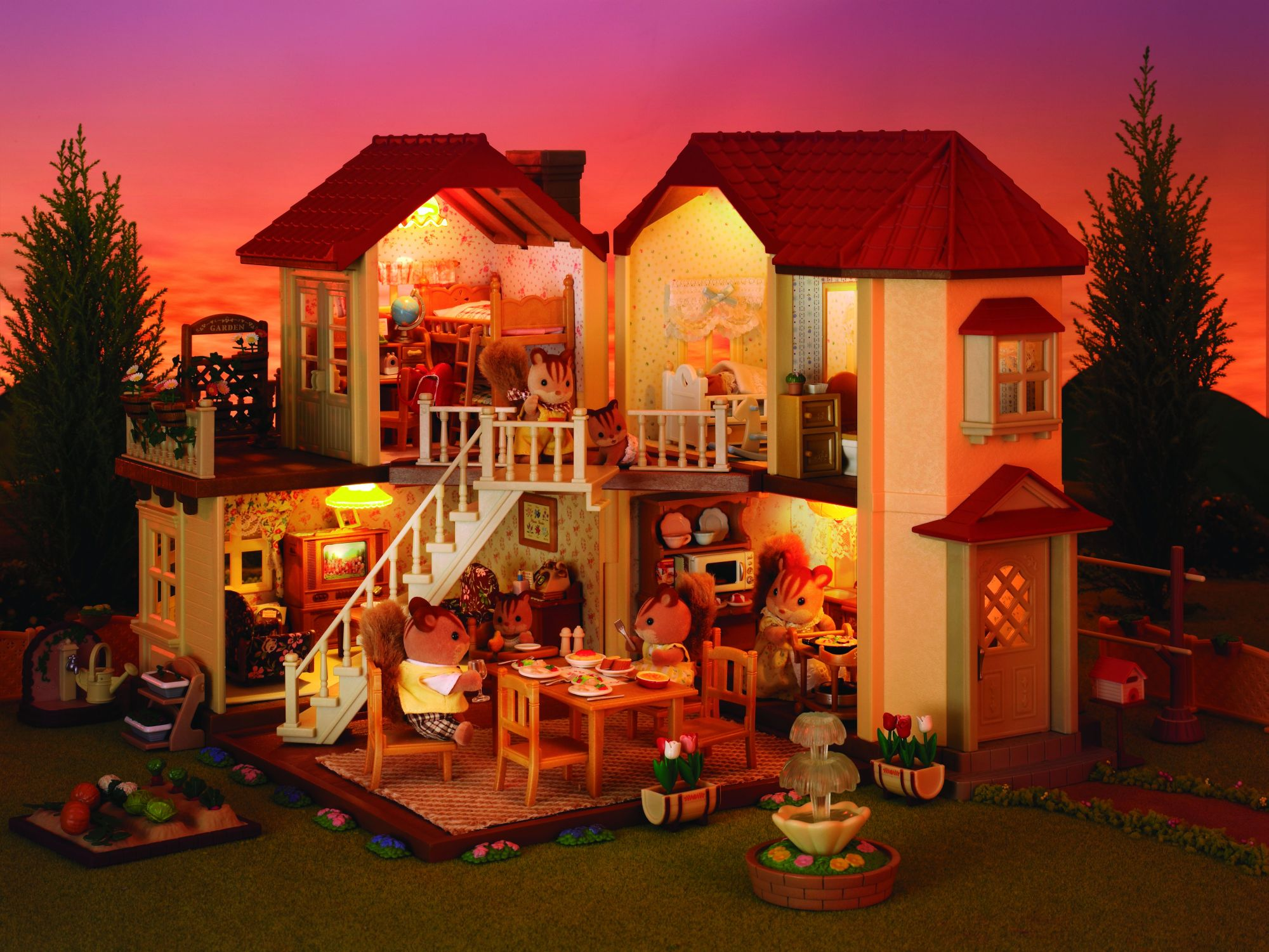 sylvanian grande maison tradition de sylvanian. Black Bedroom Furniture Sets. Home Design Ideas