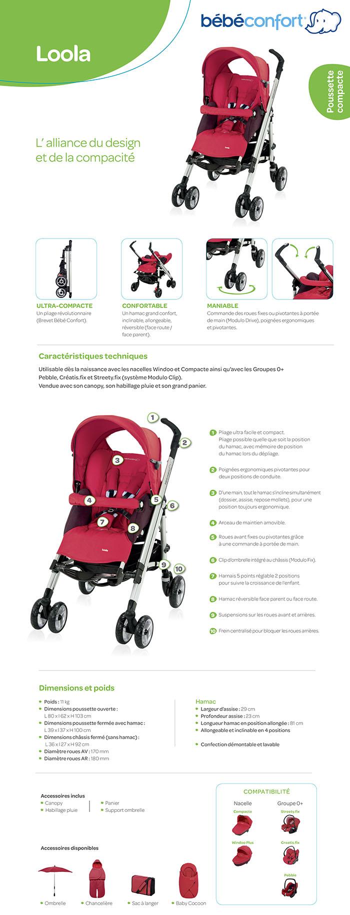 Bébé Confort Poussette Loola Total Black Collection 2011 Amazonfr