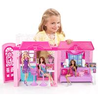 Barbie x7945 maison de poup e maison de vacances jeux et jouets - Barbie maison de reve ...