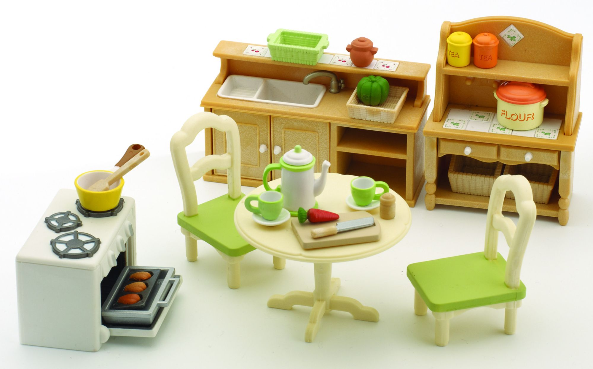 sylvanian families 2951 set cuisine poup es et accessoires sylvanian jeux et. Black Bedroom Furniture Sets. Home Design Ideas