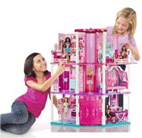 Barbie x7949 maison de poup e h tel particulier jeux et jouets - Barbie maison de reve ...
