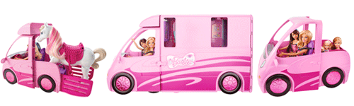 barbie x8410 maison de poup e camping car equestre jeux et jouets. Black Bedroom Furniture Sets. Home Design Ideas