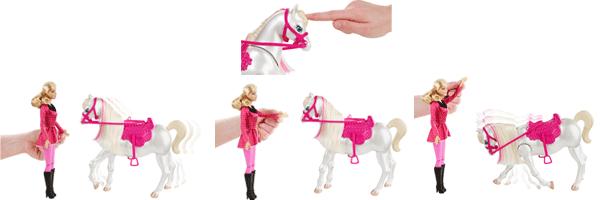 Barbie y6858 accessoire poup e cheval concours - Barbie chevaux ...