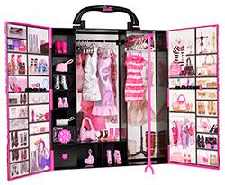 barbie x5357 accessoire pour poup e fashionistas dressing de r ve mattel. Black Bedroom Furniture Sets. Home Design Ideas