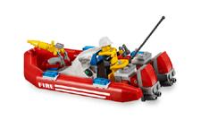 lego city le camion tout terrain et le bateau des pompiers
