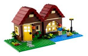 lego creator 5766 jeu de construction la maison en for t jeux et jouets. Black Bedroom Furniture Sets. Home Design Ideas