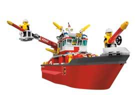 lego city le bateau des pompiers 7207