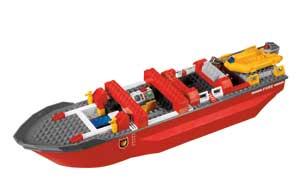 7207 le bateau des pompiers lego city