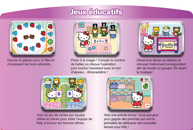 vtech 252405 jeu lectronique mobigo hello kitty jeux et jouets. Black Bedroom Furniture Sets. Home Design Ideas