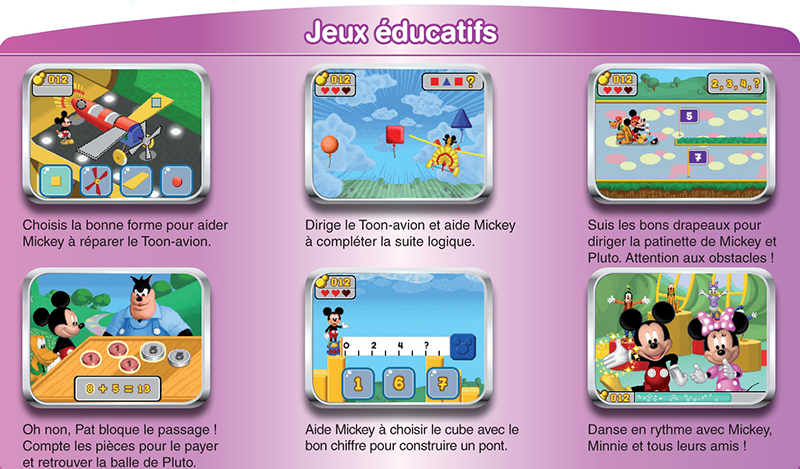 vtech 250505 jeu ducatif lectronique jeu mobigo la maison de mickey jeux. Black Bedroom Furniture Sets. Home Design Ideas
