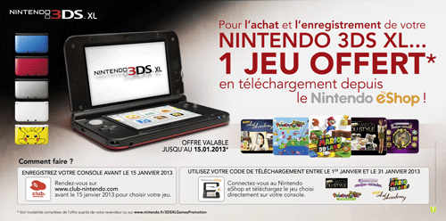 Nintendo 3ds xl prix promo
