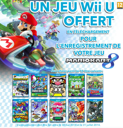 mario kart 8 enregistr 1 jeu wii u offert t l charger. Black Bedroom Furniture Sets. Home Design Ideas