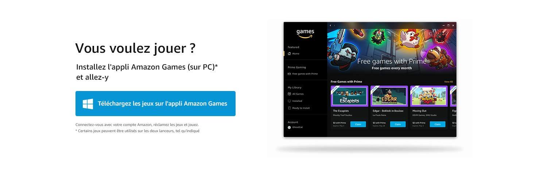 Tudo pronto para jogar? Instale o aplicativo Amazon Games (PC)* e comece a curtir Baixe no aplicativo Amazon Games